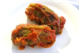Vegetarian Middle Eastern Stuffed Cabbage Rolls