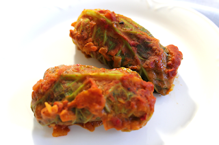 Vegetarian Middle Eastern Stuffed Cabbage Rolls