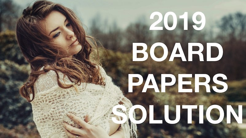 2019 BOARD PAPER SOLUTION