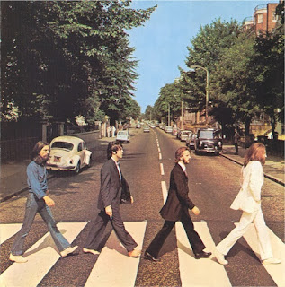 The Beatles 1969 Abbey Road cover.