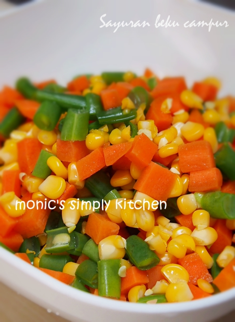 cara membuat frozen mix vegetables