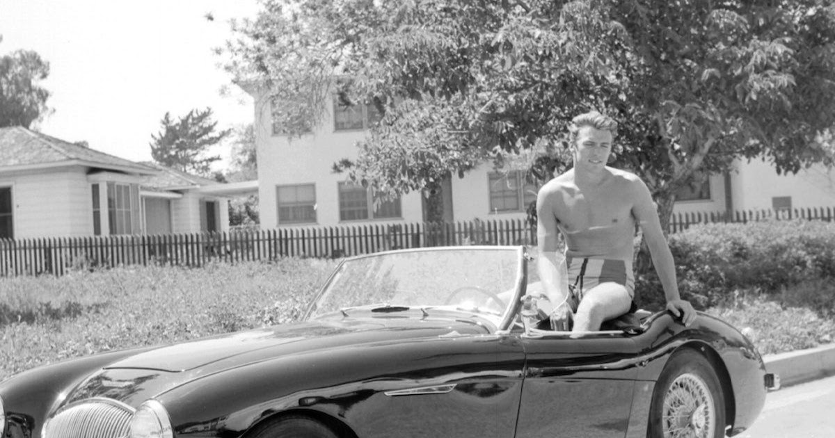 11 captivating pictures of a young and sexy clint eastwood in 1956 vintage everyday for Eastwood high school swimming pool