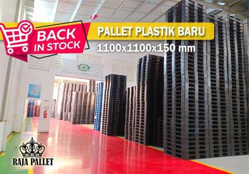 pallet plastik 1100x1100x150 mm ready stok