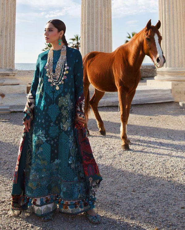 Mahira Khan Royal Looks from Elan Ormana Lawn 2021