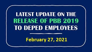 Status on the release of PBB 2019 as of February 26