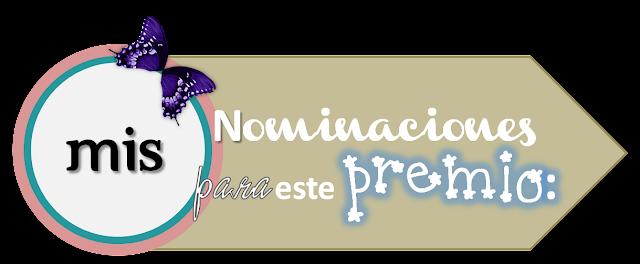 Mis nominaciones