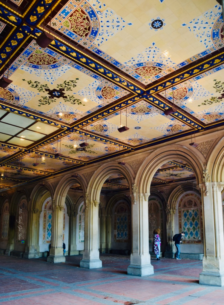 The Arcade at Bethesda Fountain in NYC is considered to be the crown jewel of Central Park | Ms. Toody Goo Shoes #centralpark #bethesdafountain