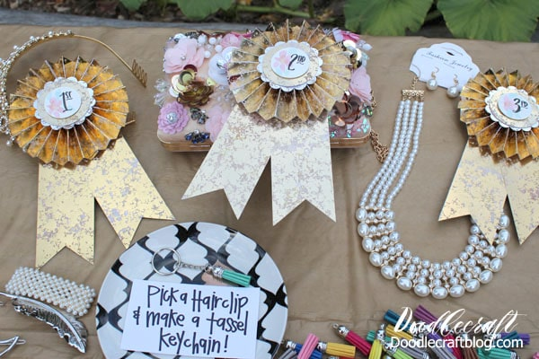 Prizes for the Costume Contest for the Downton Abbey Inspired 1920's Flapper Garden Party Girls Night and all the details on how to host your own!