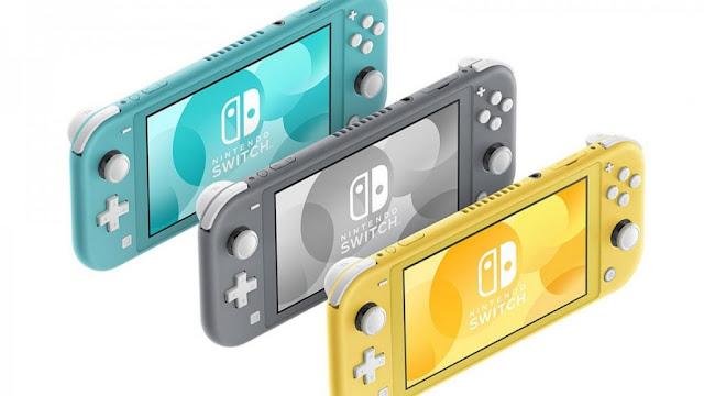Nintendo switch lite dibuat dengan tiga pilihan warna