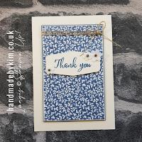 Boho Indigo Thank You Card Supply List