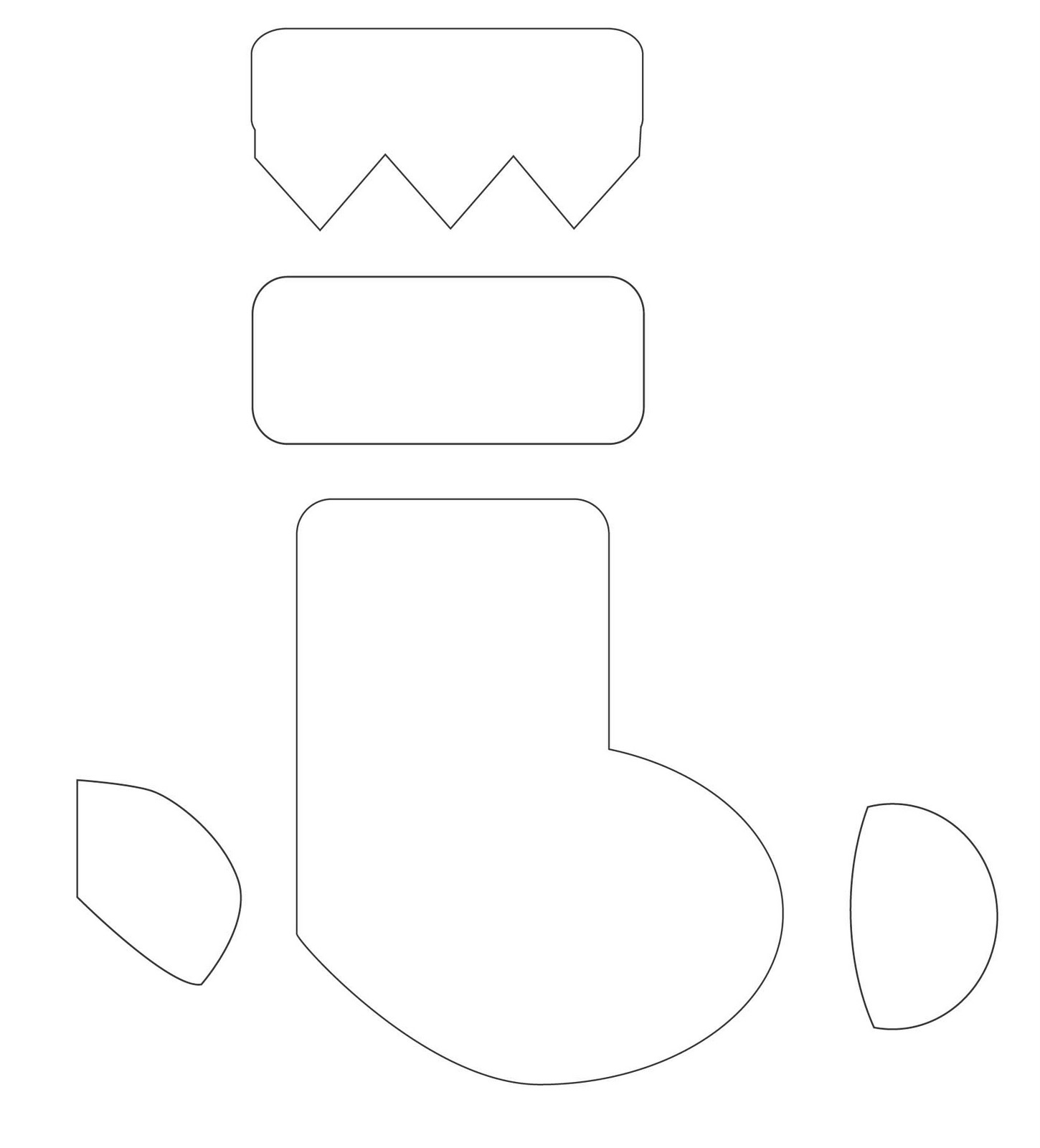The Best Christmas Stocking Template Printable