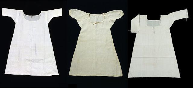 Chemises do século 18