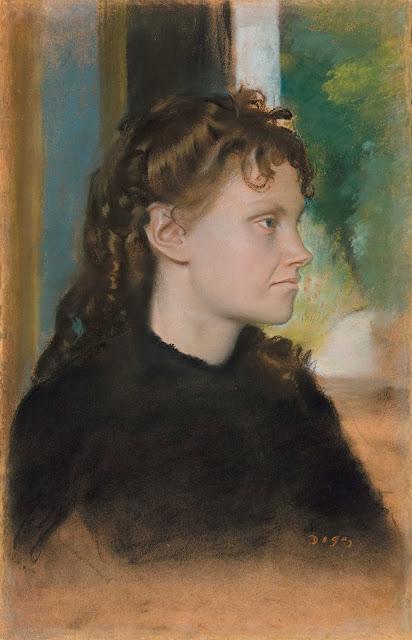 Эдгар Дега - Мадам Теодора Гобийяр (урождённая Ив Моризо) (1869)