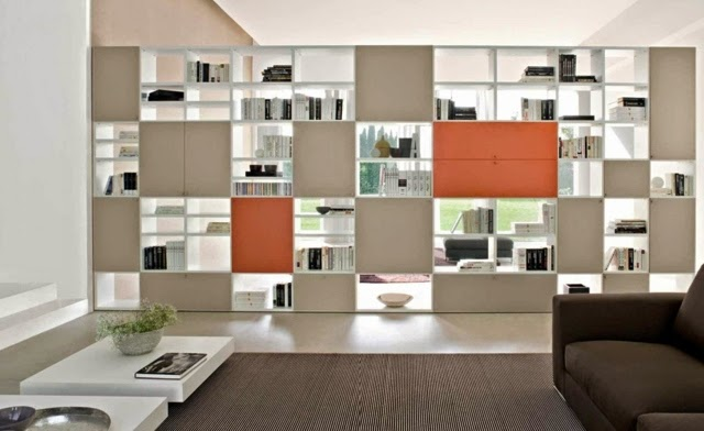 Living room bookshelves and shelving units 20 elegant ideas - Open shelving living room ...
