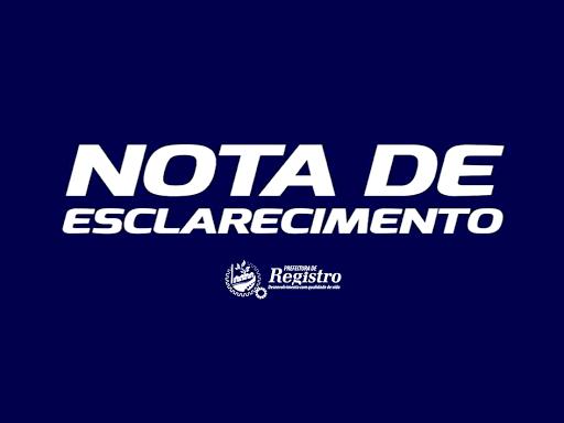 Nota Esclarecimento da prefeitura de Registro-SP sobre as Cestas Básicas
