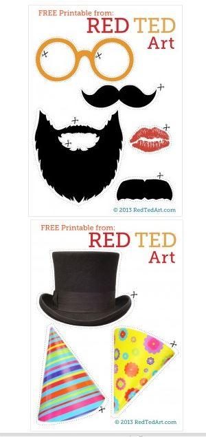 Plantillas de barbas para disfraz