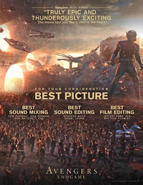 Cartaz Vingadores Ultimato - Oscar (2)