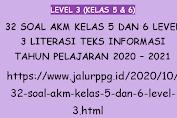 32 Soal AKM Kelas 5 dan 6 Level 3 Literasi Teks Informasi Tahun Pelajaran 2020 - 2021