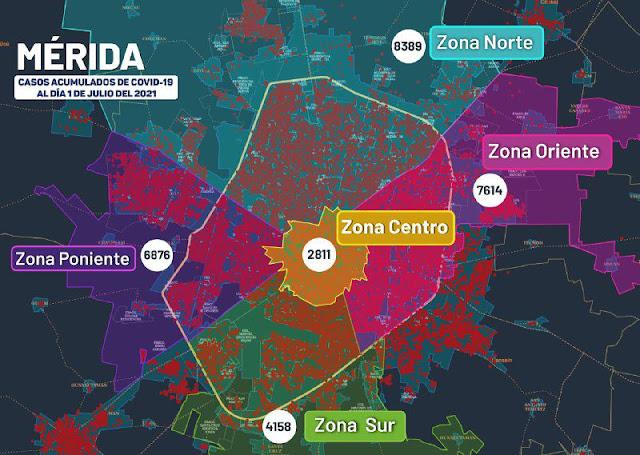 Mérida, el epicentro de la pandemia con más contagiados y muertos