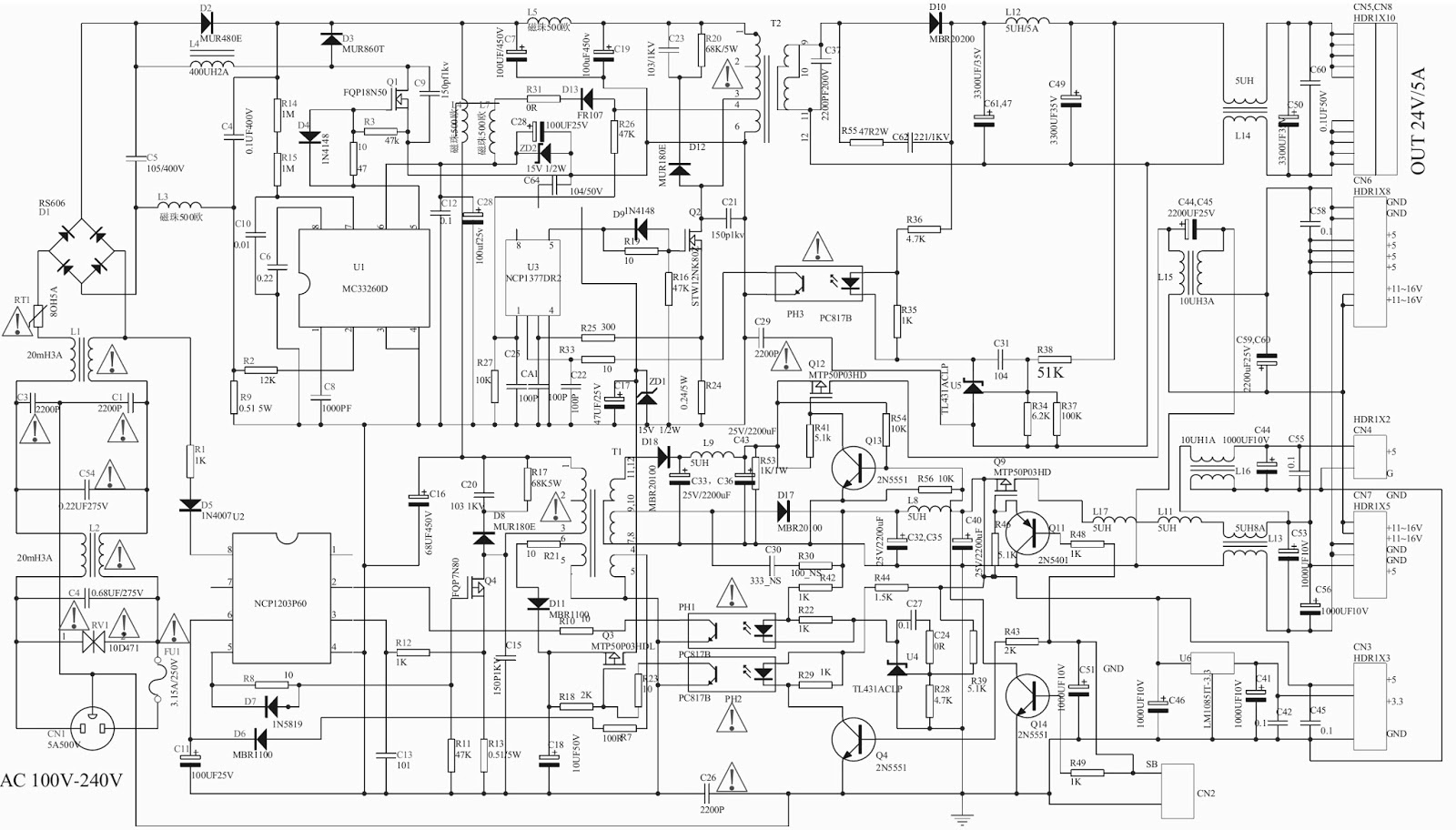 lcd tv power supply circuit diagram