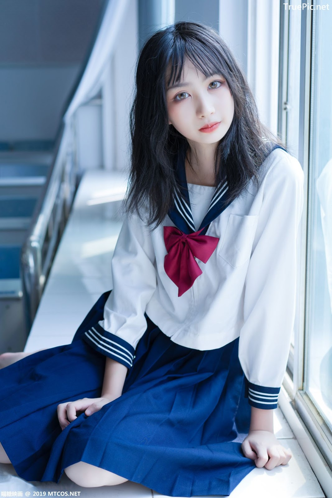 Image MTCos 喵糖映画 Vol.014 – Chinese Cute Model With Japanese School Uniform - TruePic.net- Picture-1