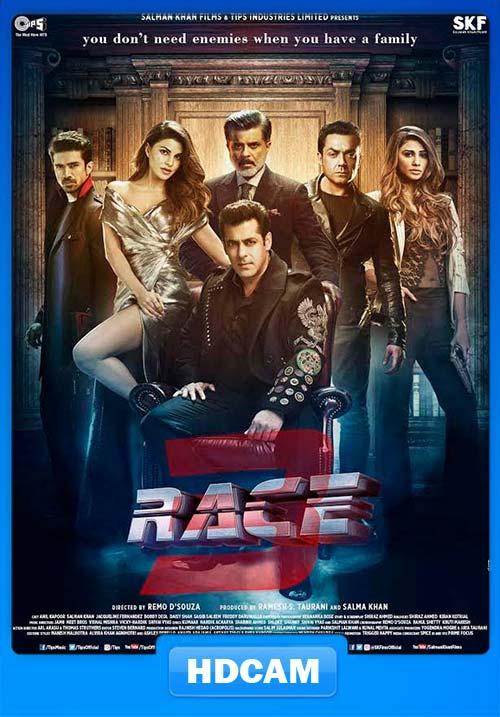 Race 3 (2018) Hindi 720p HQ PRE | 480p 400MB | 200MB HEVC x264  Download