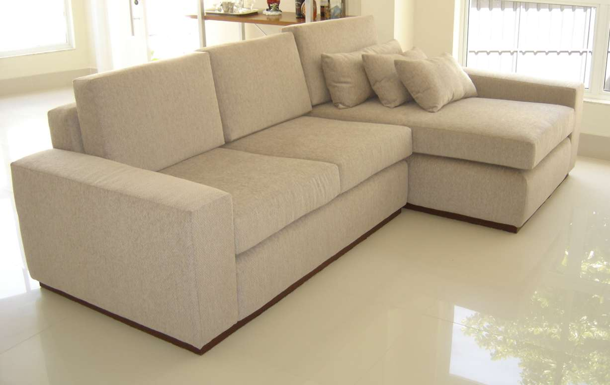 Estofactto decora o e estofaria sof com chaise for Modelo sofa