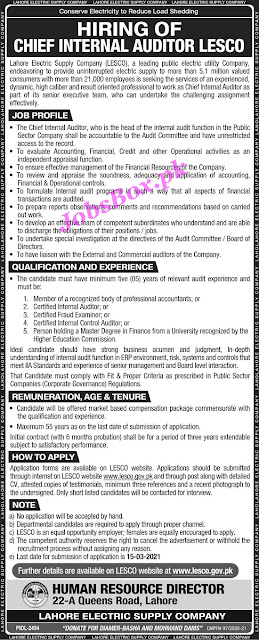 lahore-electric-supply-company-lesco-jobs-2021-application-form