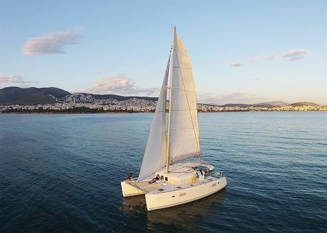 Catamaran sailing cruise to Athens Riviera with Keytours