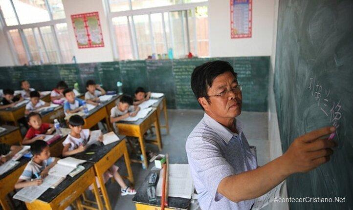 Maestro chino en clases