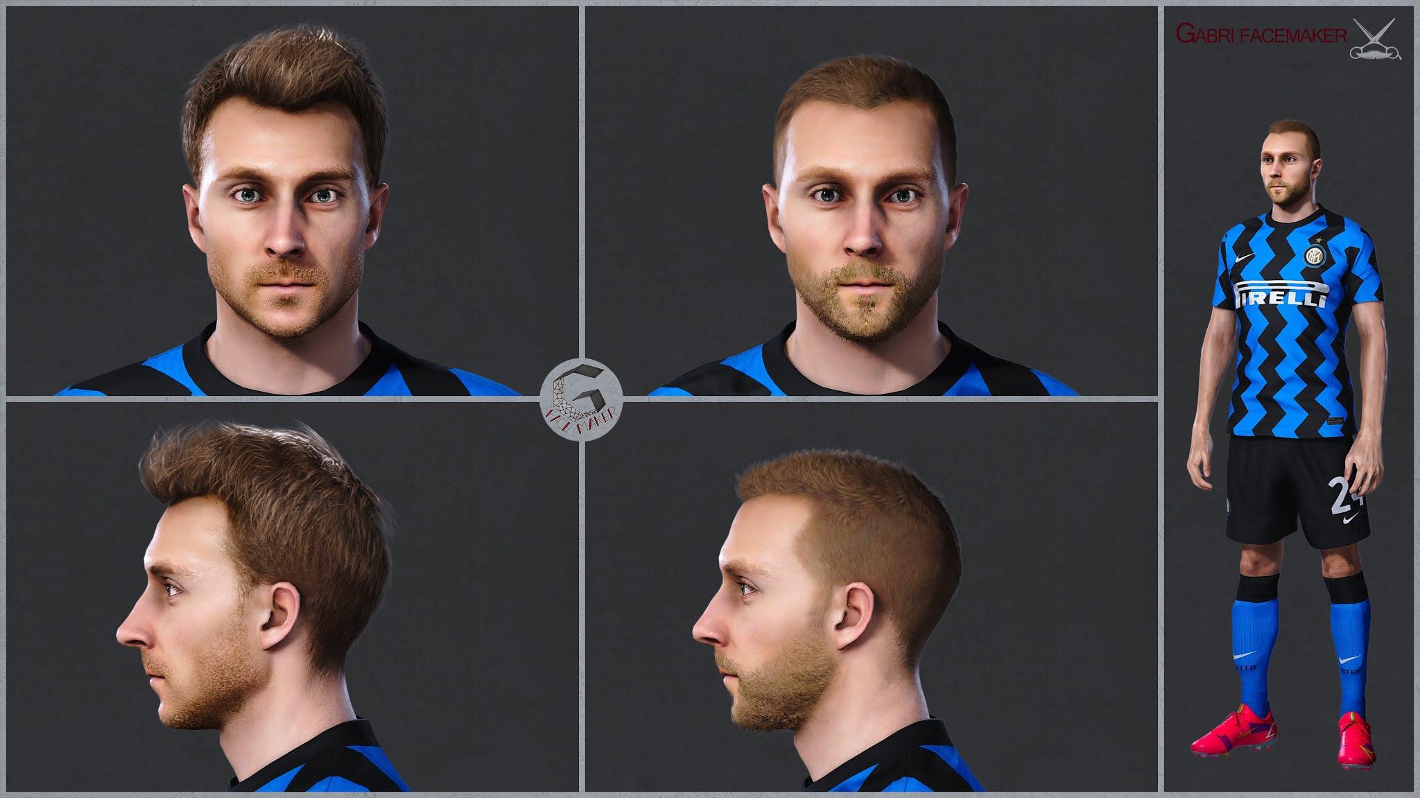 PES 2021 Christian Eriksen Face