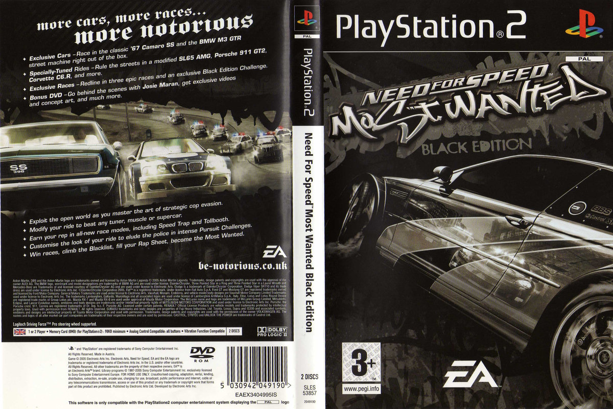 Need For Speed Most Wanted Black Edition PS2 ISO Download