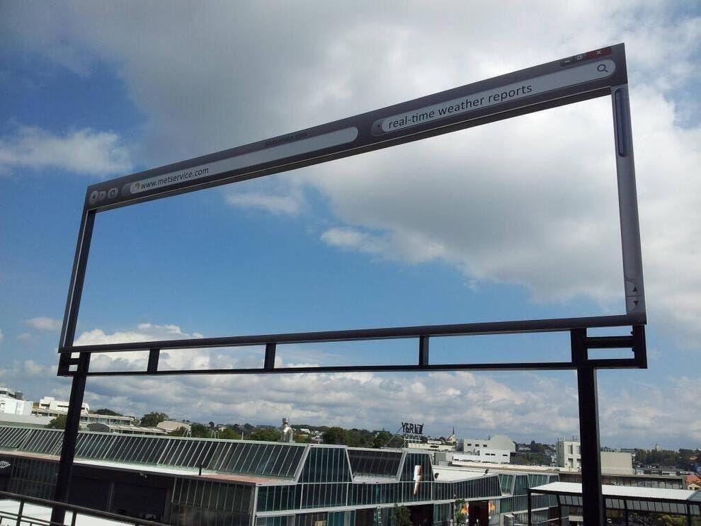 MetService billboard
