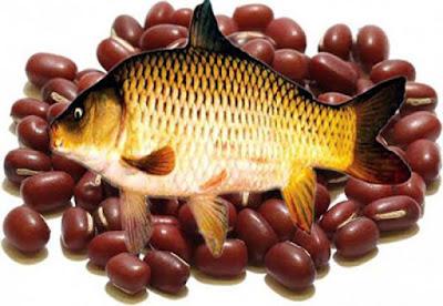 Canh cá chép với đậu đỏ an thai bổ máu