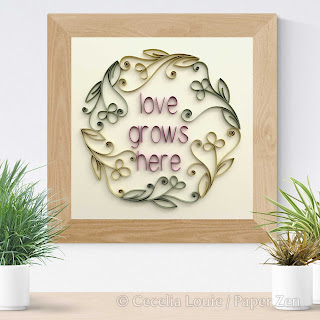 Quilling Phrases - Love Project