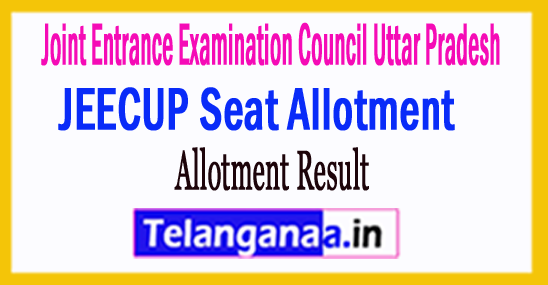 JEECUP Seat Allotment Result 2018