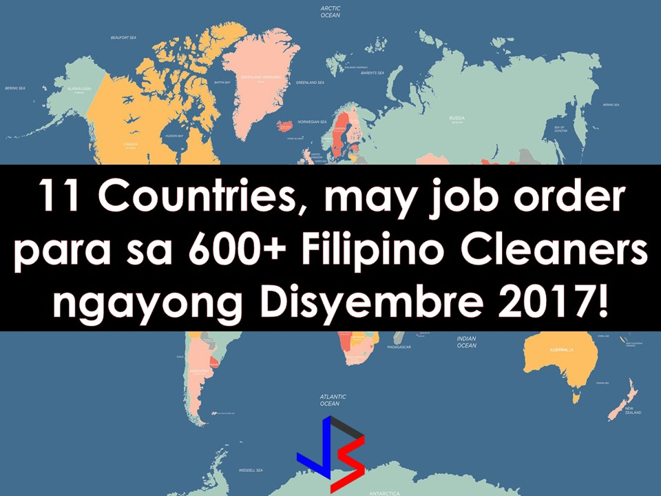 More than 600 cleaning jobs are for grabs for Filipinos this November in different countries all over the world. If you are looking for jobs abroad, do not miss this opportunity. Aside from 653 job orders for cleaners, there are recruitment agencies who are hiring for cleaners without numbers, which means, as many hires as they can for open job orders.  The following are countries hiring for male and female cleaners; Oman, United Arab Emirates, Saudi Arabia, Finland, Kuwait, Bahrain, Saipan Czech Republic, Japan, Malaysia and Brunei.  The following information is taken from the website of Philippine Overseas Employment Administration (POEA). Information on recruitment agencies is being added for interested parties.  Please reminded that we are not recruitment agencies, all information in this article is taken from POEA website and being sort out for much easier use. The contact information of recruitment agencies is also listed. Interested applicant may directly contact the agencies' representative for more information and for the application. Any transaction entered with the following recruitment agencies is at applicants risk and account.