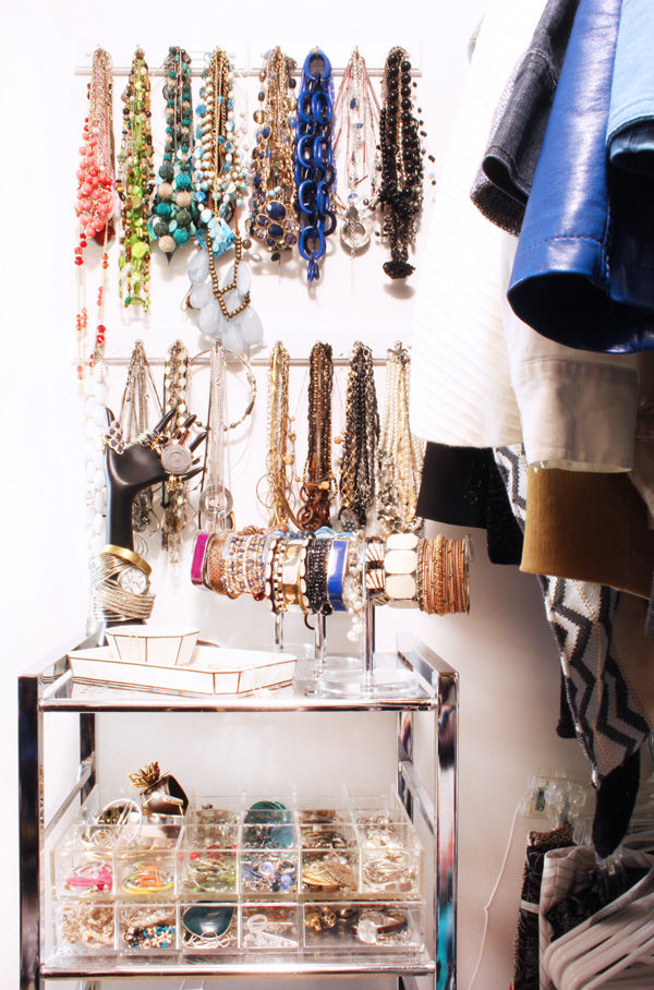 Hanging Necklace Organization