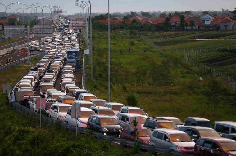 Kemacetan di Brebes (Foto: Sindonews)