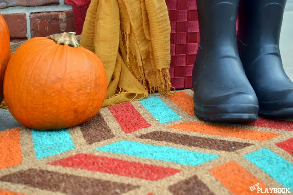 Fall herringbone doormat