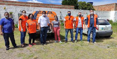 AsmoviQ e Defesa Civil  distribuem kits com álcool em gel e máscara para população em situação de vulnerabilidade