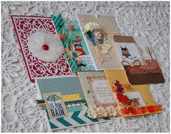 скрап открытки набор, открытки с вышивкой, скрапбукинг и вышивка, товары для ярмарки, разнообразие открыток