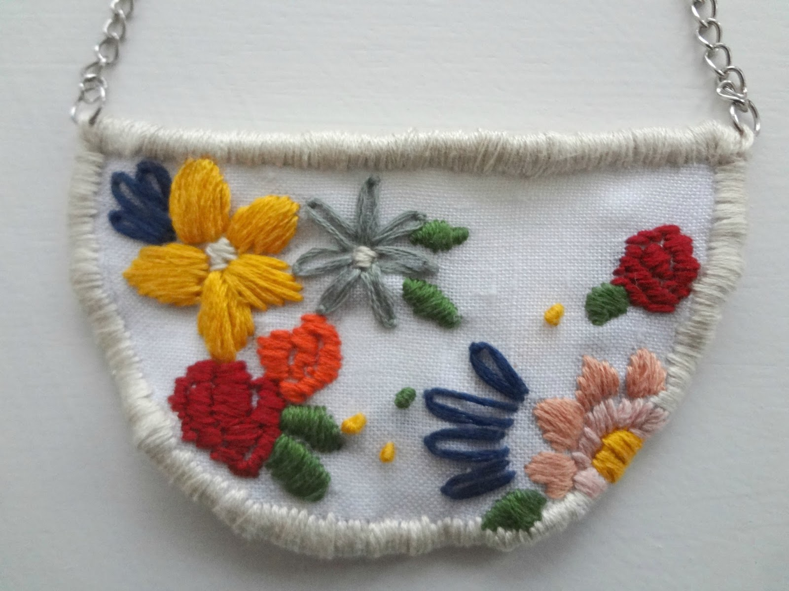 Little treasures embroidered pendant diy