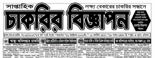 সাপ্তাহিক চাকরির বিজ্ঞাপন পত্রিকা ২৩ অক্টোবর ২০২০ - saptahik chakrir biggapon potrika 23 october 2020