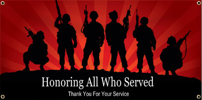 Honoring All Who Served Veterans Day Banner | Banners.com