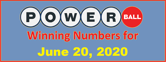 PowerBall Winning Numbers for Saturday, June 20, 2020