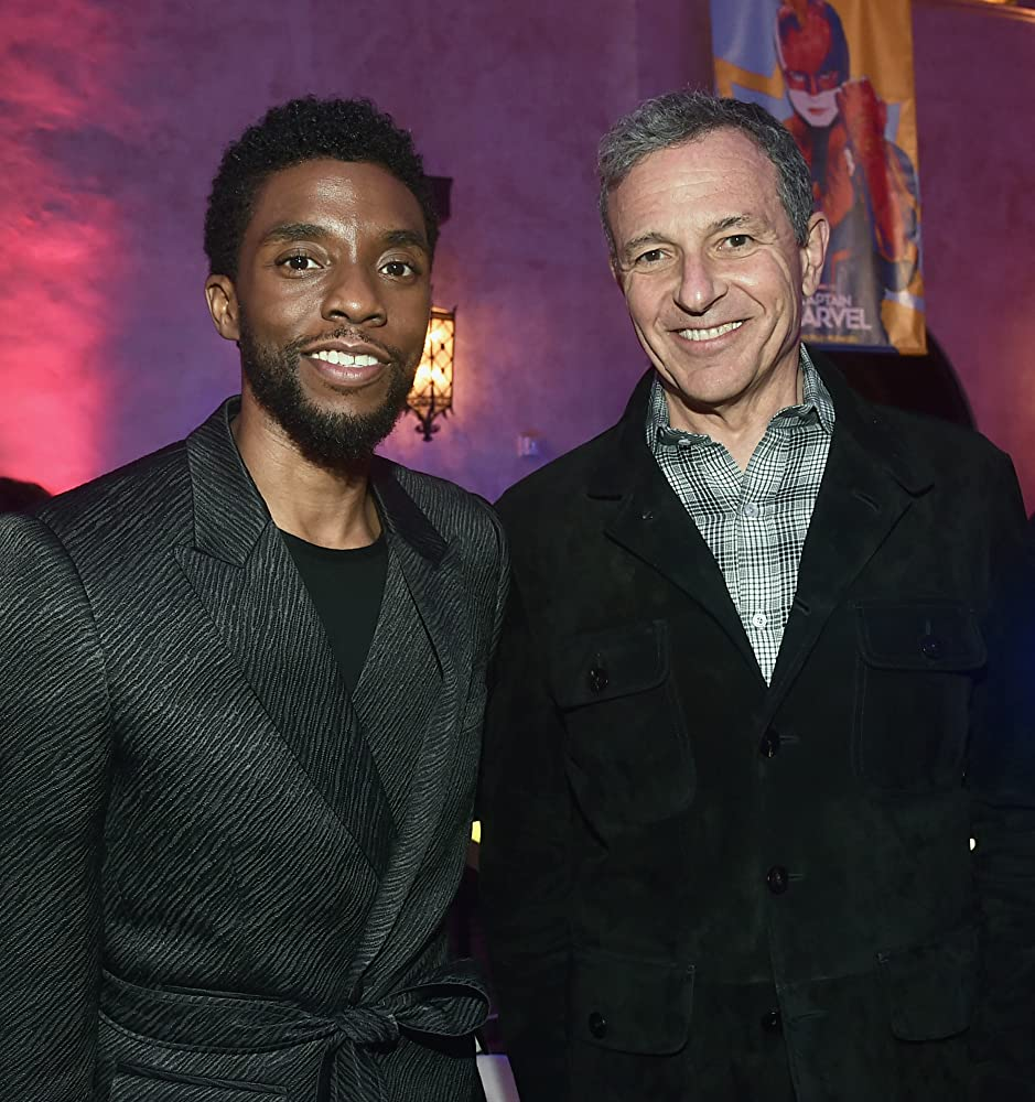 Chadwick Boseman and Bob Iger at an event for Captain Marvel (2019)