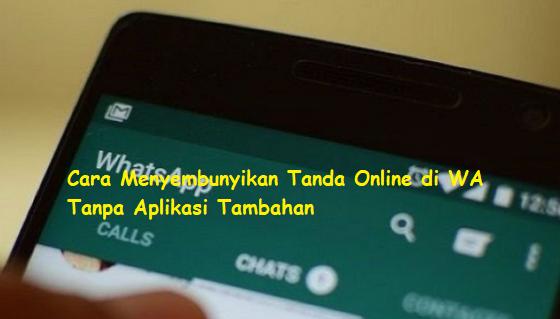 Begini Cara Menyembunyikan Tanda Online WhatsApp Tanpa Aplikasi Tambahan