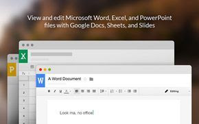 Edit Office files from the Chrome browser