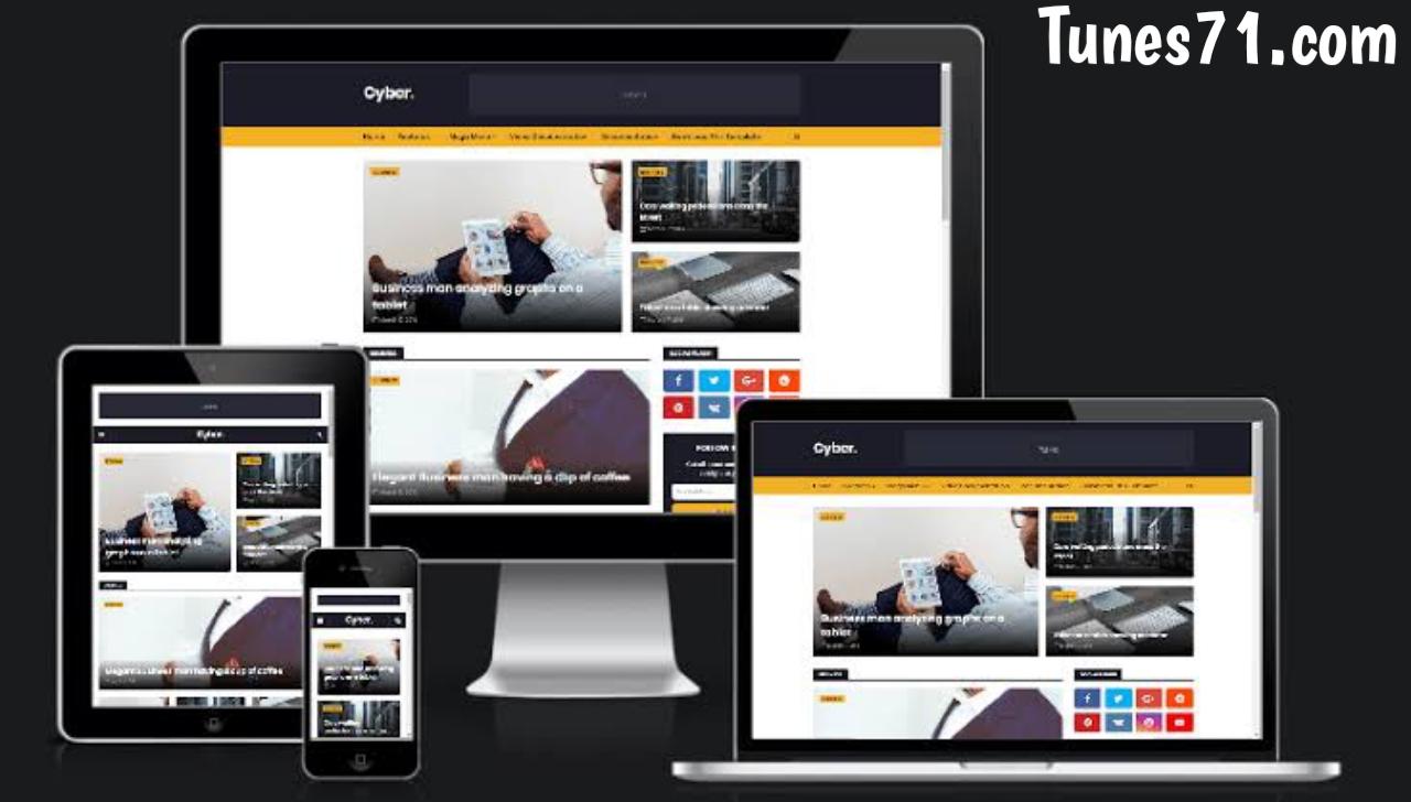 Download  Cyber blogger template  Premium Version.